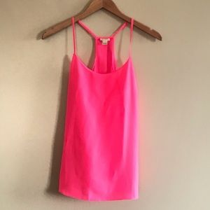 J. Crew Strappy Hot Pink Tank Top